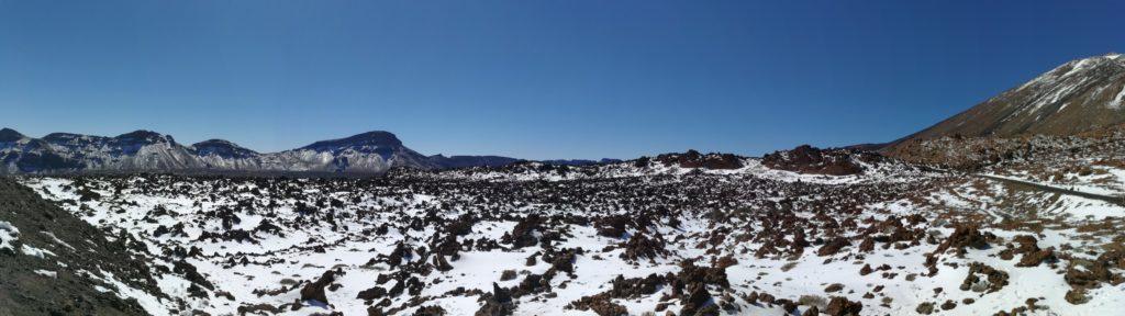 Teneriffa Wandern Teide Schnee