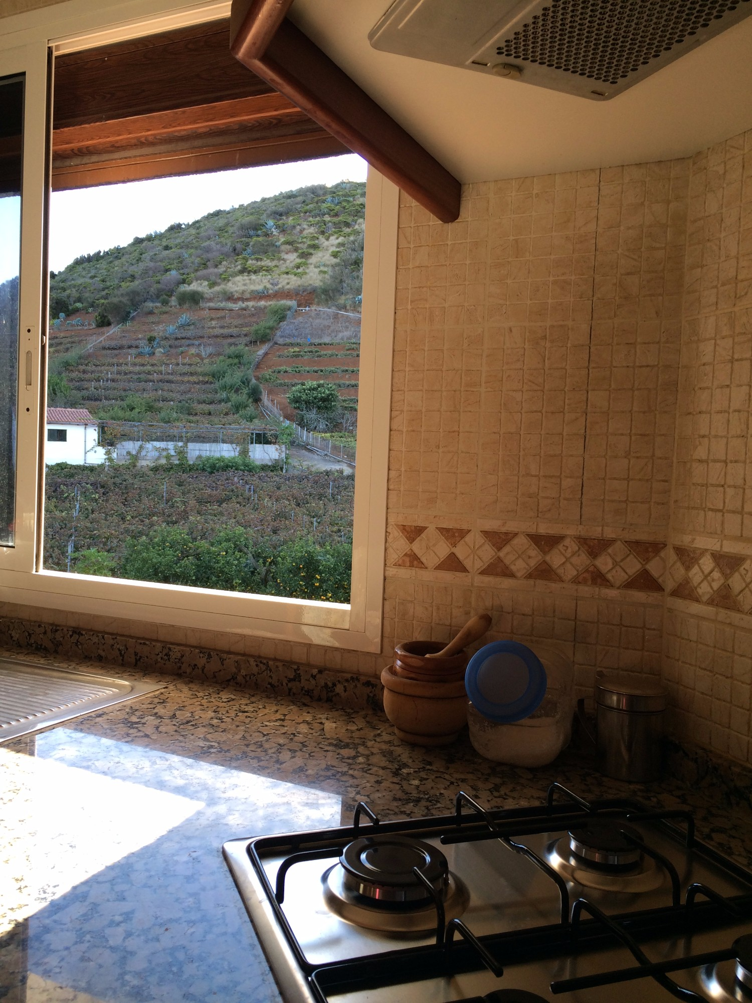Küchenfenster Finca Ferienhaus Tegueste