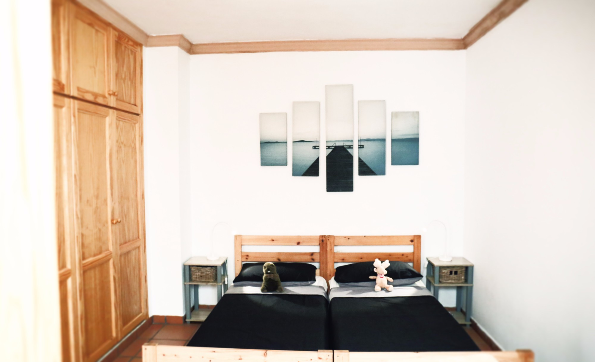 Doppelbett Schlafzimmer 2 Finca Ferienhaus Tegueste