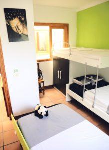 Finca Betten Schlafzimmer 1Ferienhaus Tegueste