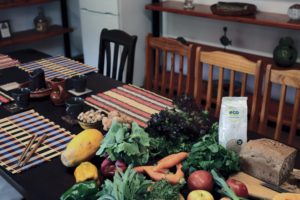 Küchentisch Gemüse Finca Ferienhaus Tegueste