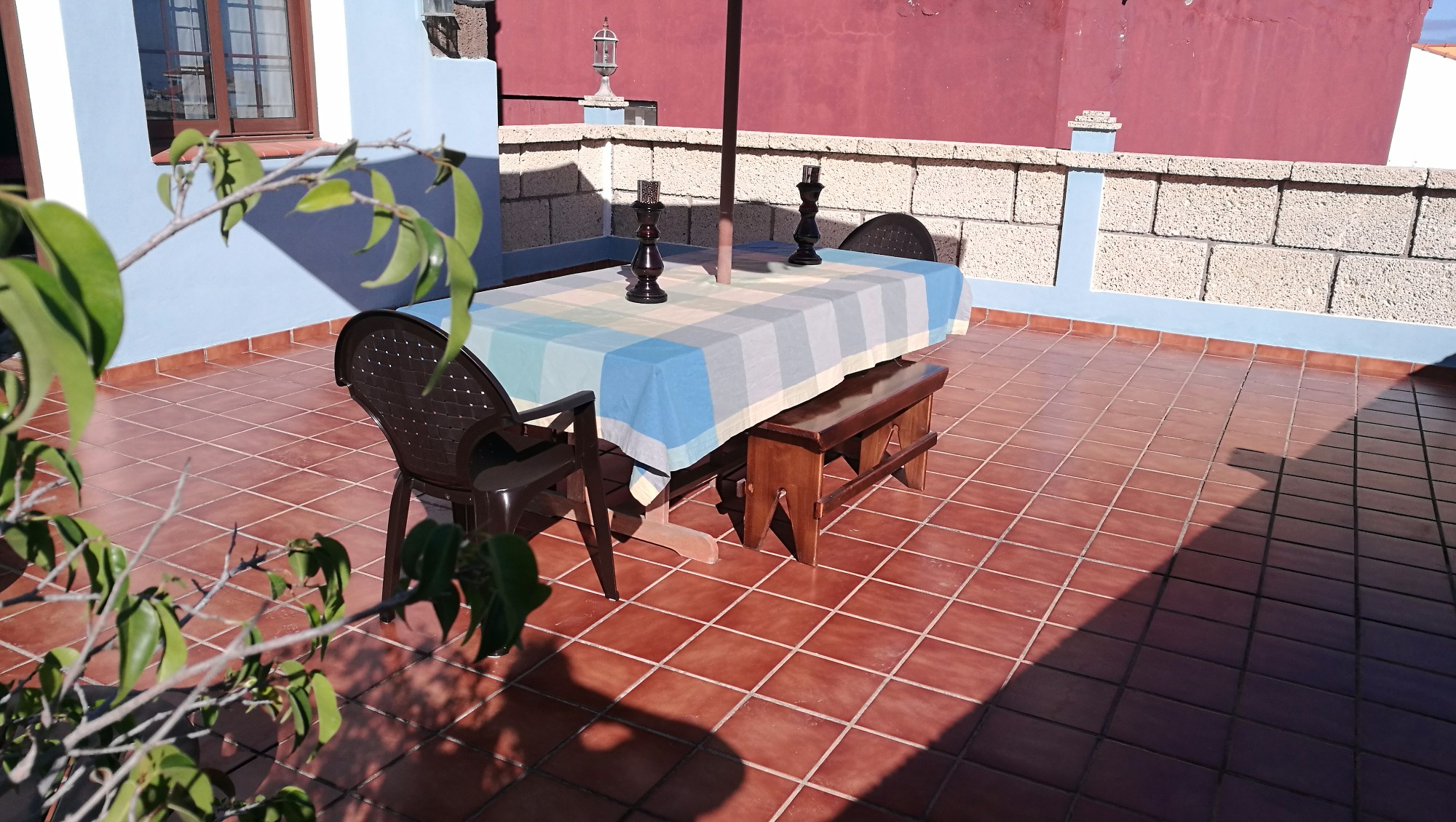 Esstisch Terrasse Ferienhaus La Guancha Teneriffa Nord