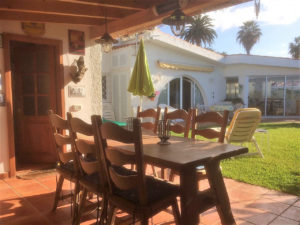 Teneriffa Ferienhaus La Victoria La Palmita Blick in den Garten