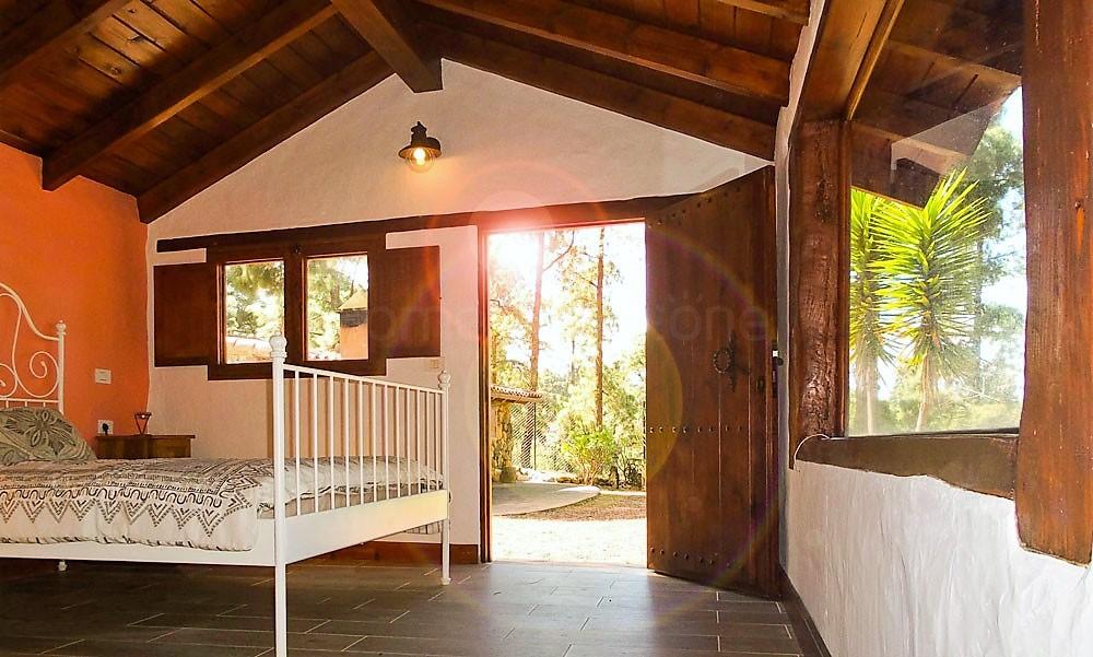 Ferienhaus La Guancha Wandern Schlafzimmer Ausgang