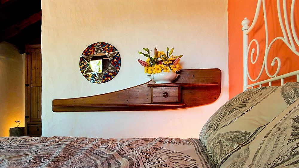 Ferienhaus La Guancha Wandern Regal Schlafzimmer
