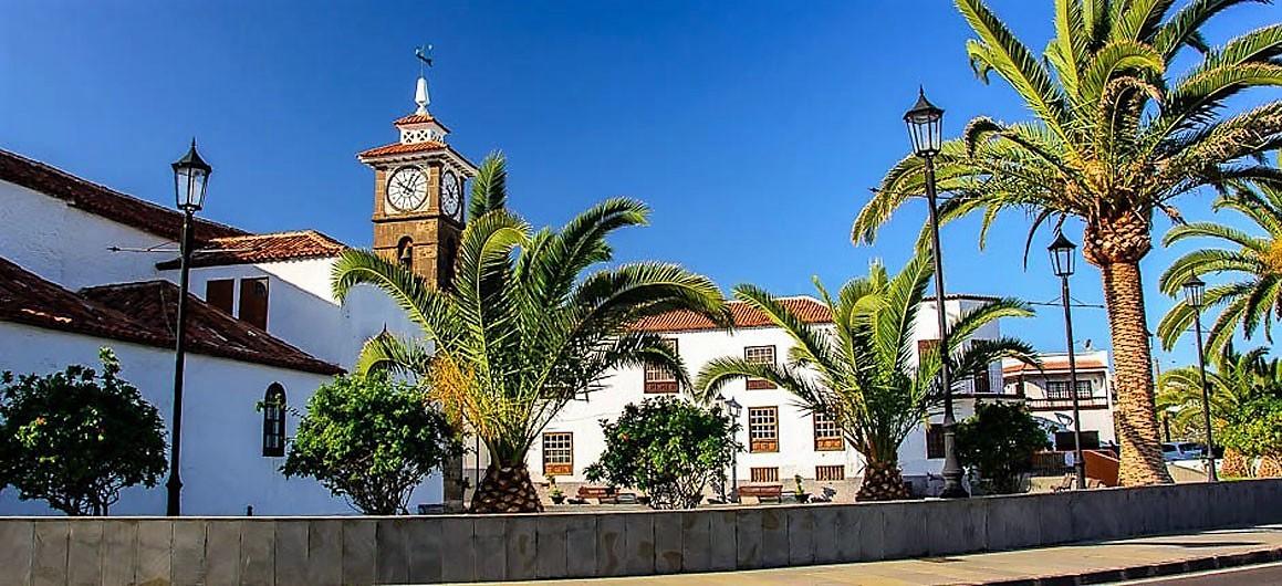 Ferienhaus La Guancha Wandern Kirchplatz