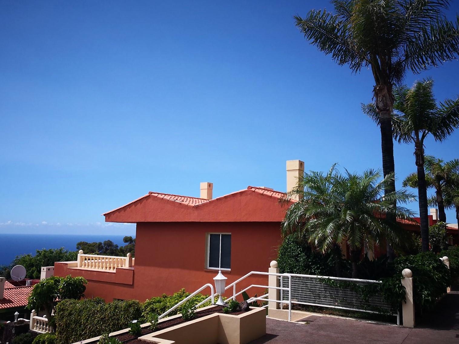 Ferienhaus Teneriffa Nord La Quinta Treppen Außenanlage