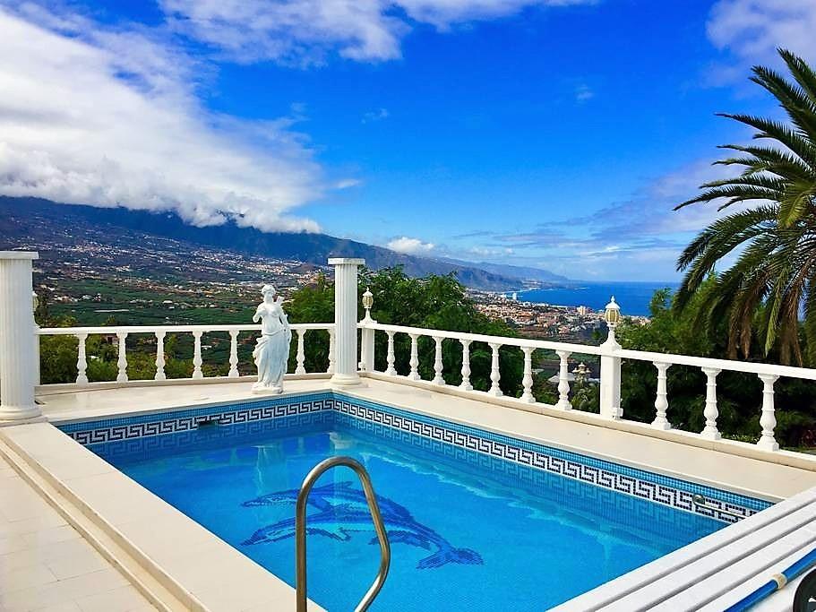Villa mit Privatpool Teneriffa Nord Pool Aussicht