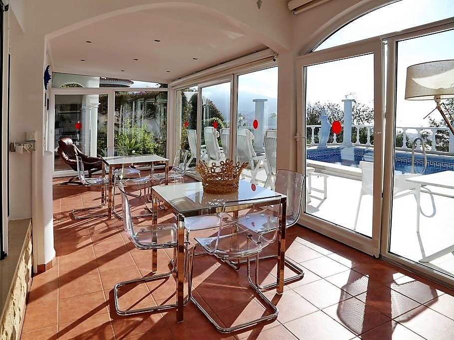 Villa mit Privatpool Teneriffa Nord Wintergarten 2