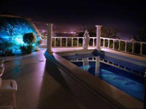 Villa mit Privatpool Teneriffa Nord Pool nachts