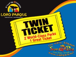 Twin Ticket Loro Parque Siam Park