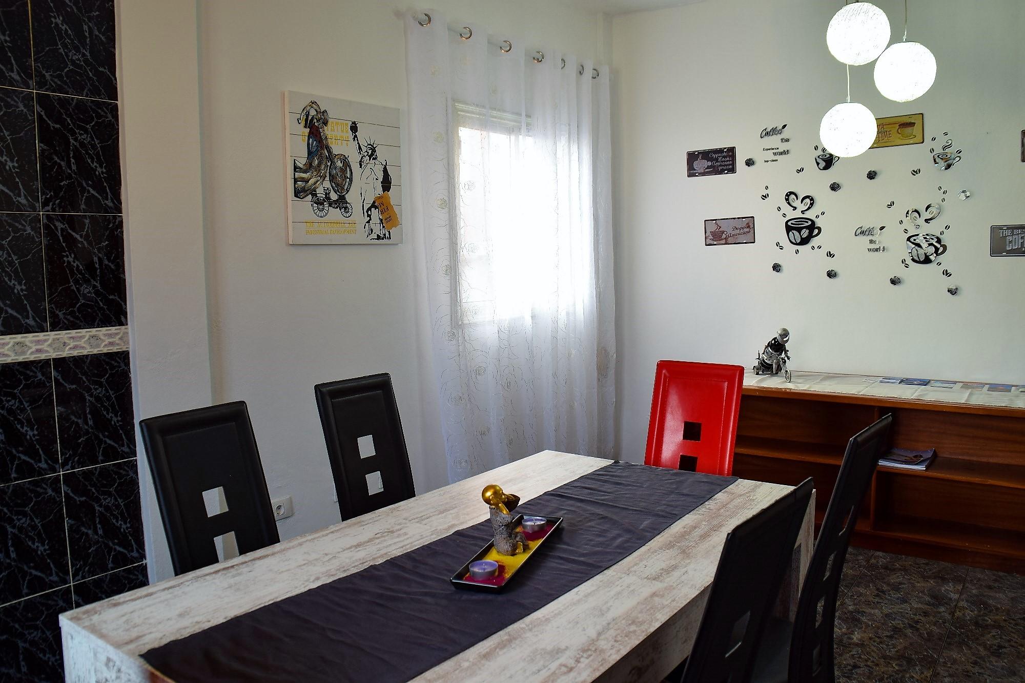 Ferienwohnung El Médano am Strand - La Caleta - Esstisch in der Küche