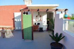 Ferienwohnung El Médano am Strand - La Caleta - Dachterrasse Eingang