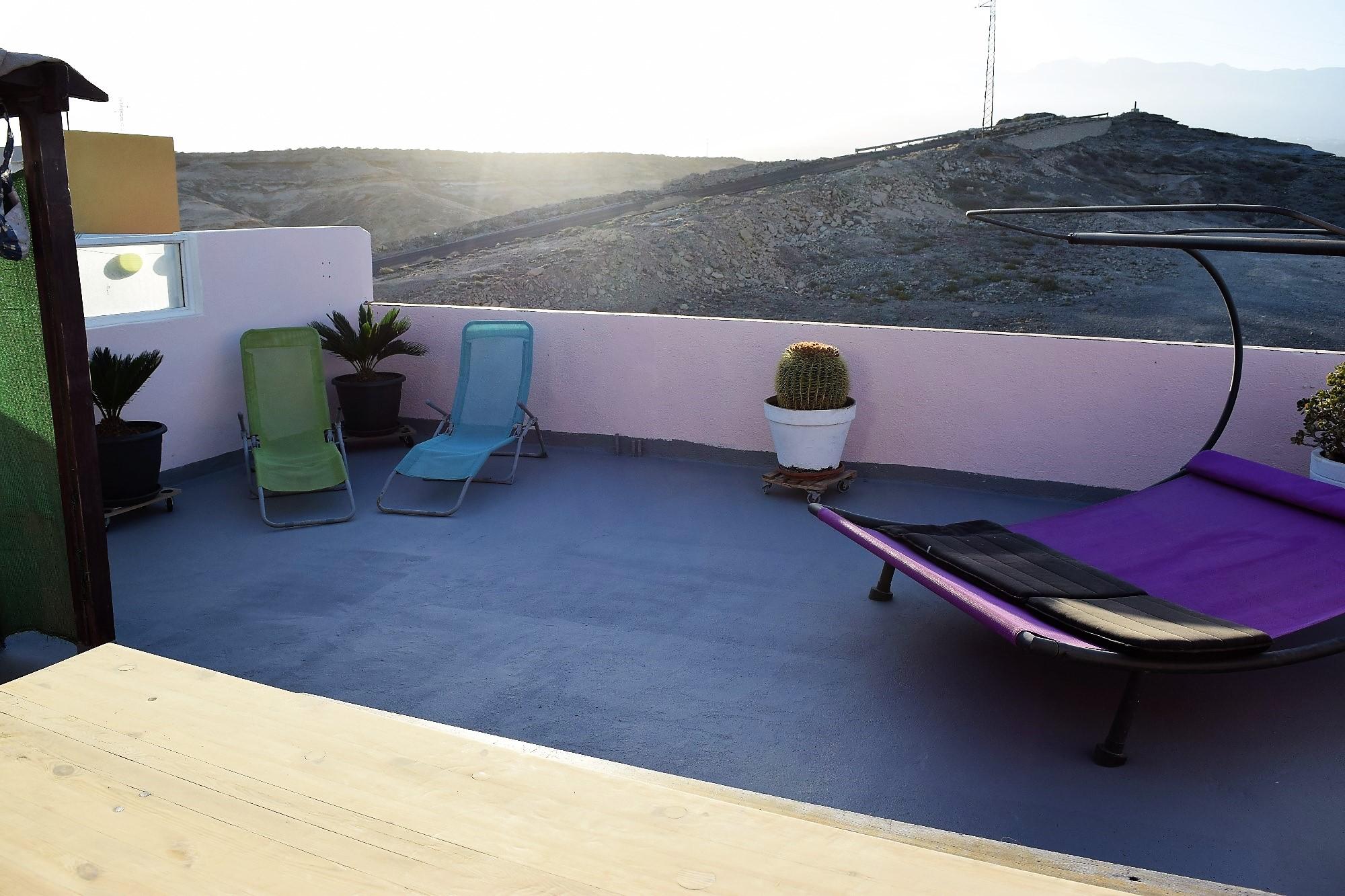 Ferienwohnung El Médano am Strand - La Caleta - Liegestühle