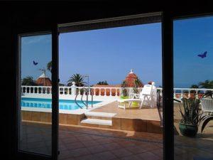 Terrassenzugang Ferienhaus La Victoria - La Palmita (11)