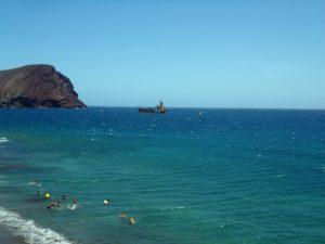 Playa Tejita, Montaña Roja, El Médano
