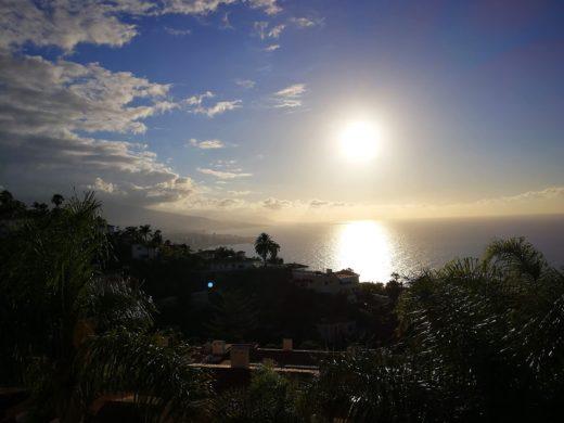Teneriffa Urlaub Meerblick mit Sonnenuntergang