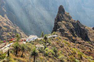 Das kleine Dorf Masca am Eingang der Masca-Schlucht.