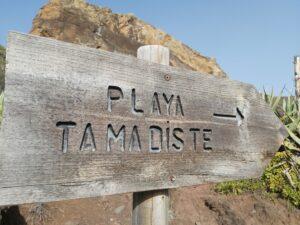 Anaga Gebirge Reiseführer - Von Afur aus kann man an den einsamen Strand Playa Tamadiste wandern.