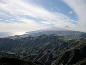 Reiseführer Anaga Gebirge Teneriffa - Blick vom Pico del Inglés über die Insel bis zum teide